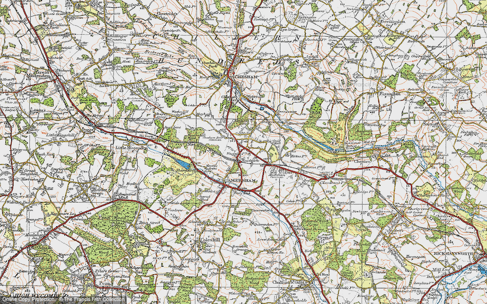 Old Map of Amersham, 1920 in 1920