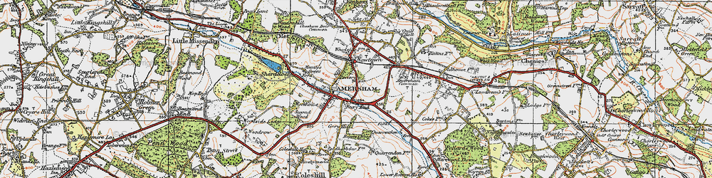 Old map of Amersham Common in 1920
