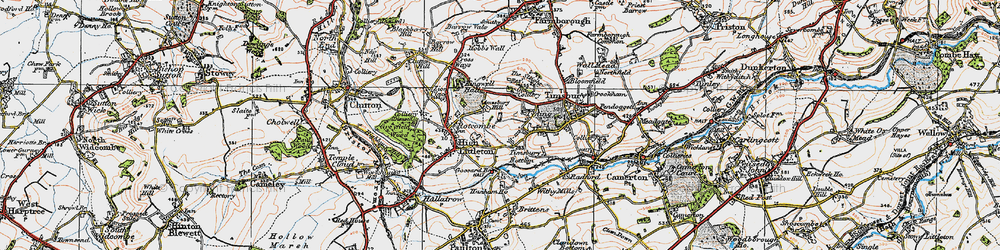 Old map of Timsbury Bottom in 1919