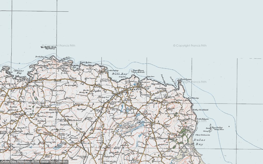 Old Map of Amlwch, 1922 in 1922