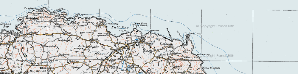 Old map of Amlwch Port in 1922