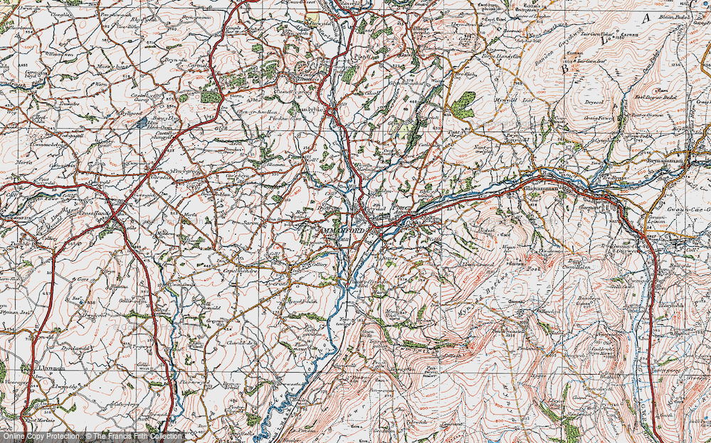 Old Map of Ammanford, 1923 in 1923