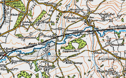 Old map of Forde Abbey in 1919