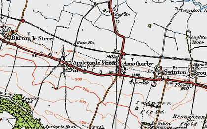 Old map of Amotherby in 1924