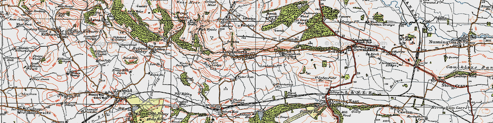 Old map of Ampleforth in 1925