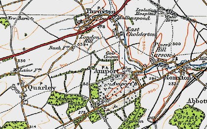 Old map of Amport in 1919