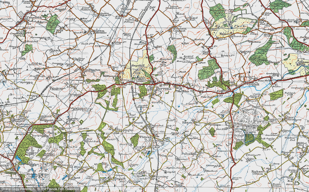 Old Map of Ampthill, 1919 in 1919