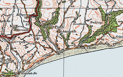 Old map of Amroth in 1922