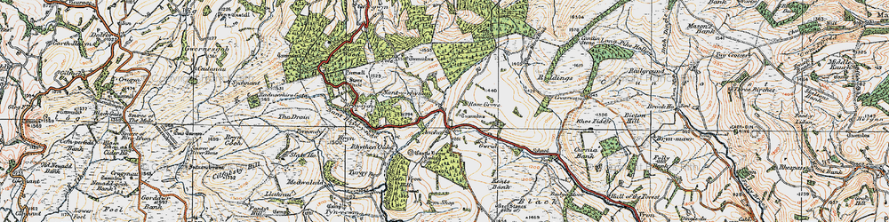Old map of Y Drain in 1920