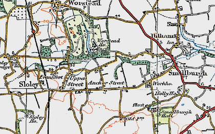 Old map of Anchor Street in 1922