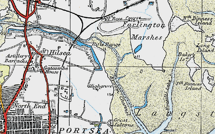Old map of Anchorage Park in 1919