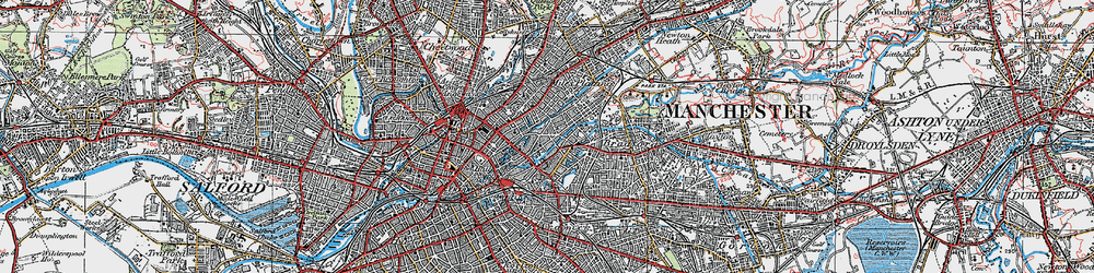Old map of Ancoats in 1924