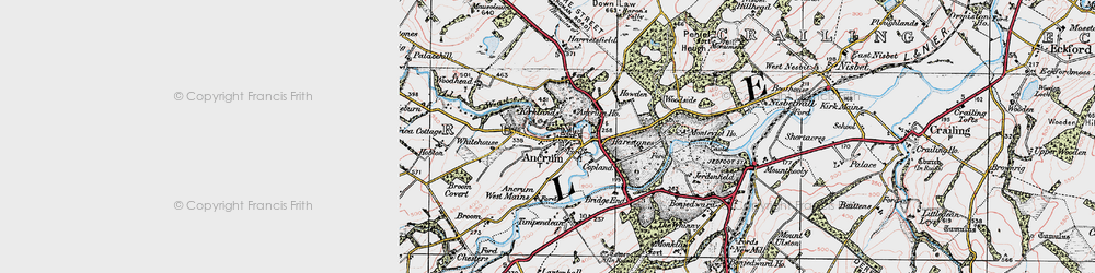 Old map of Ancrum in 1926