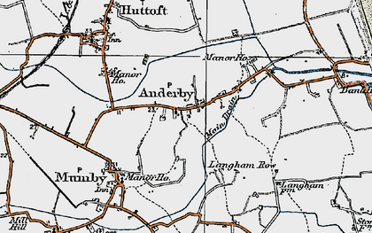 Old map of Anderby in 1923