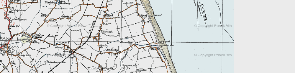 Old map of Anderby Creek in 1923