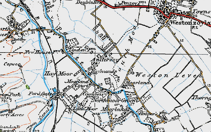 Old map of Andersea in 1919