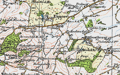 Old map of Andersfield in 1919