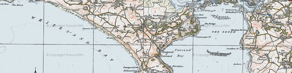 Old map of Wiggle in 1919
