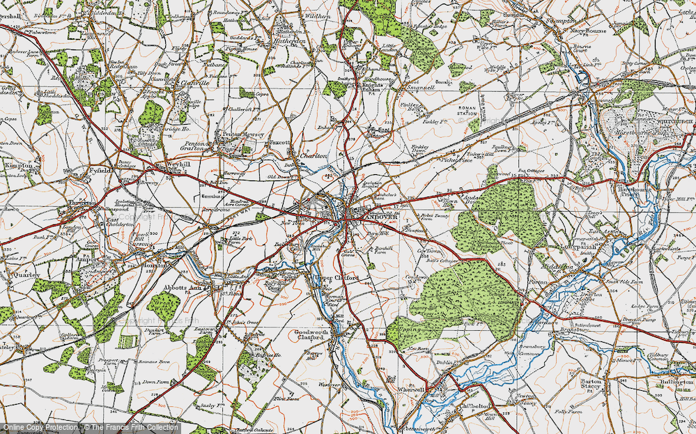 Map Of Andover Map of Andover, 1919   Francis Frith