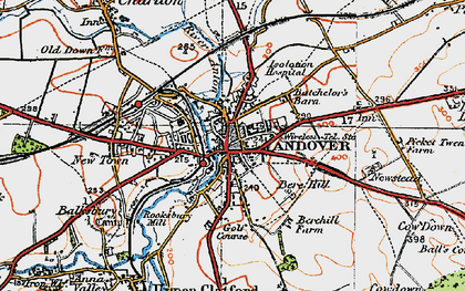 Old map of Andover in 1919