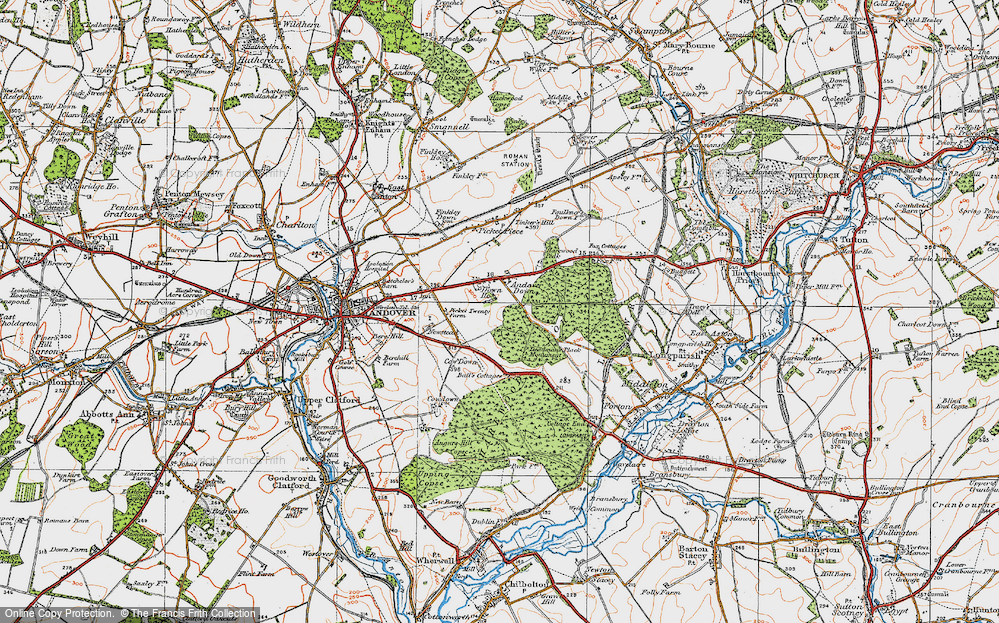 Old Map of Historic Map covering Balls Cotts in 1919