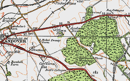 Old map of Balls Cotts in 1919