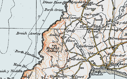 Old map of Ysgubor-bâch in 1922