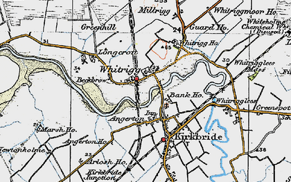 Old map of Whitrigg Ho in 1925