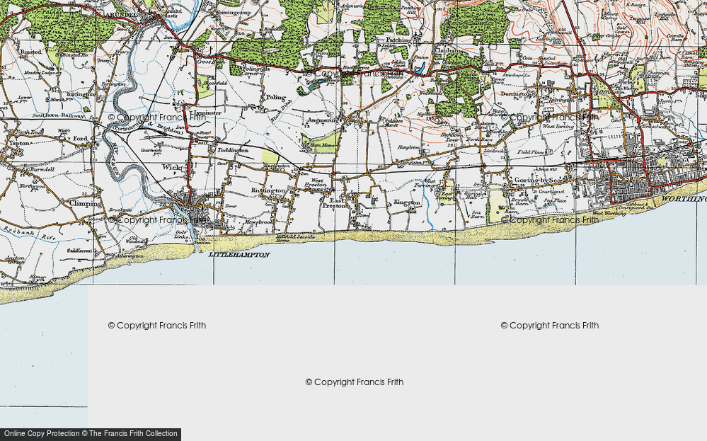 Old Map of Angmering-on-Sea, 1920 in 1920