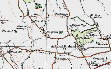 Old map of Angram in 1924