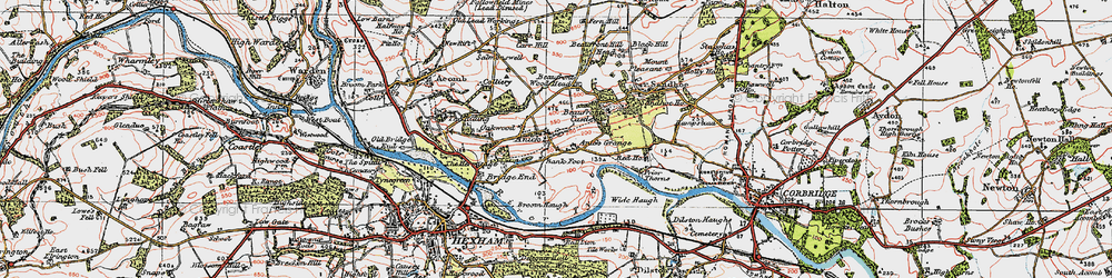 Old map of Wide Haugh in 1925