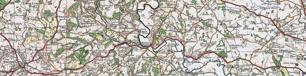 Old map of Ankerdine Hill in 1920