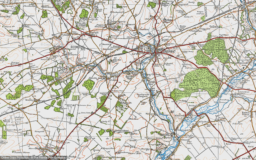 Old Map of Anna Valley, 1919 in 1919