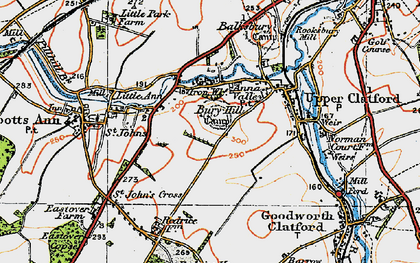 Old map of Anna Valley in 1919