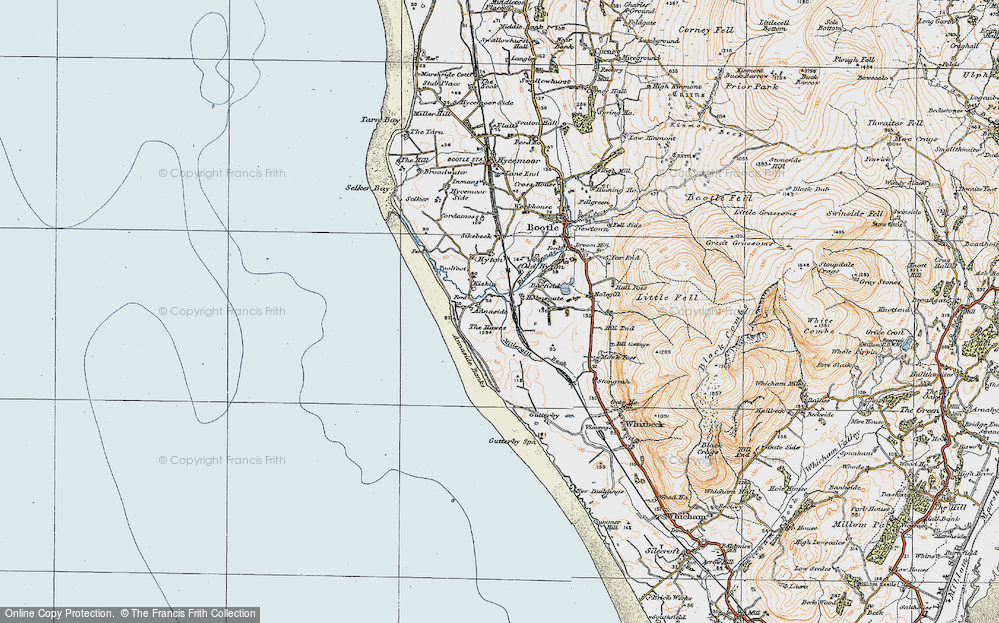 Old Map of Annaside, 1925 in 1925