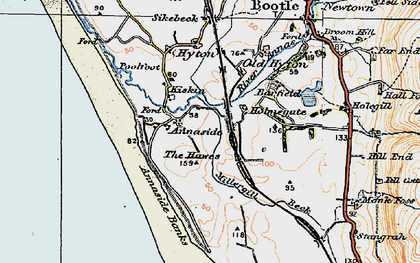 Old map of Barfield Tarn in 1925