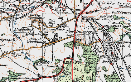 Old map of Annesley in 1921