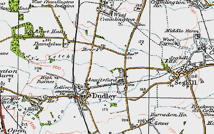 Old map of Annitsford in 1925