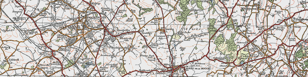Old map of Annwell Place in 1921