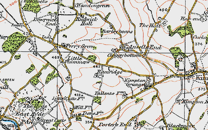 Old map of Ansells End in 1920