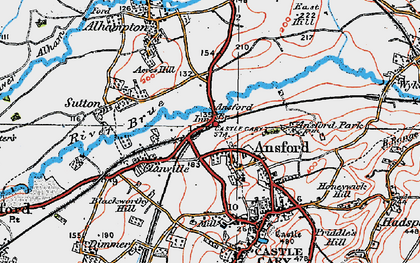 Old map of Ansford in 1919
