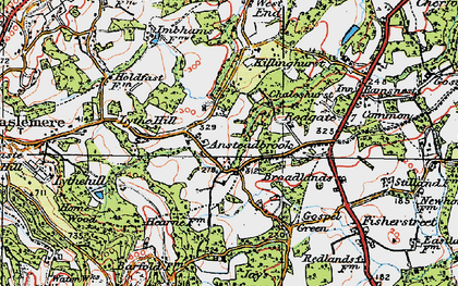 Old map of Aldworth Ho in 1920
