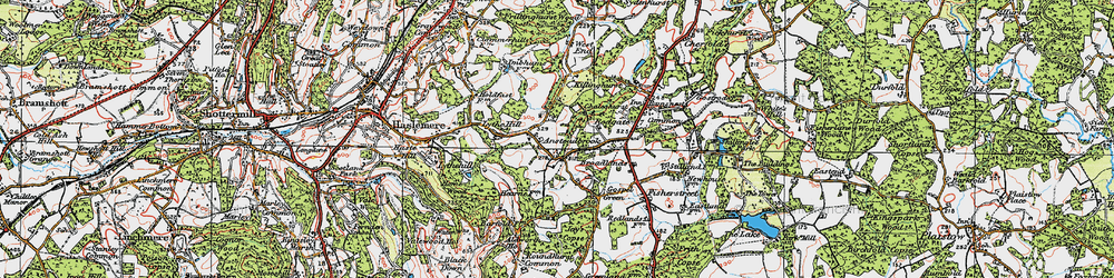 Old map of Ansteadbrook in 1920