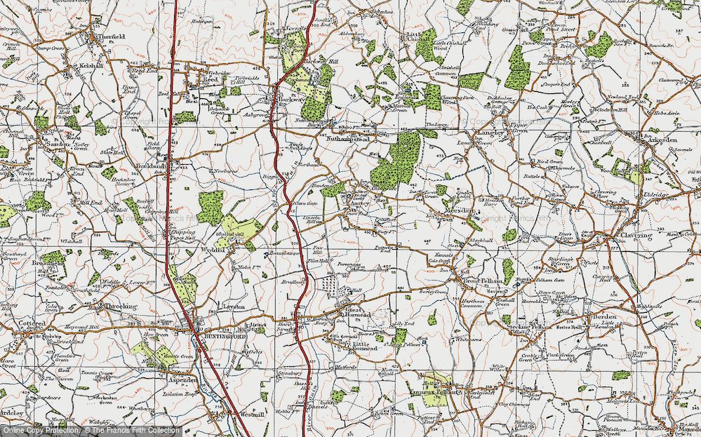 Old Map of Anstey, 1919 in 1919