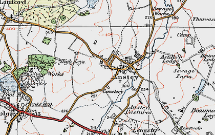 Old map of Anstey in 1921