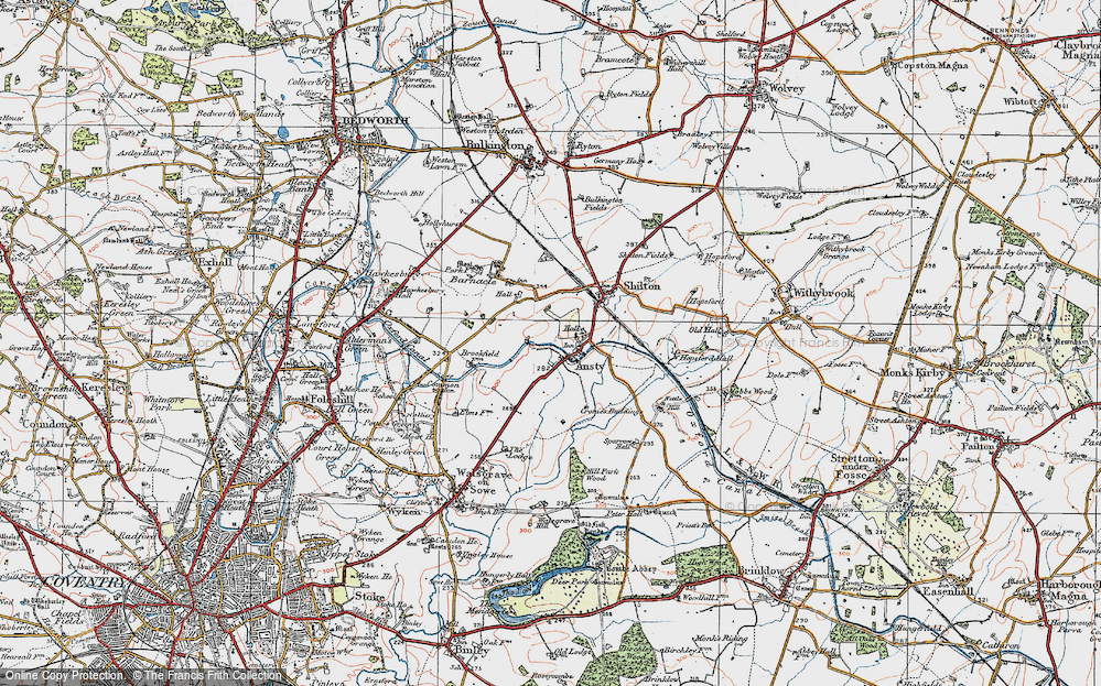 Old Map of Ansty, 1920 in 1920