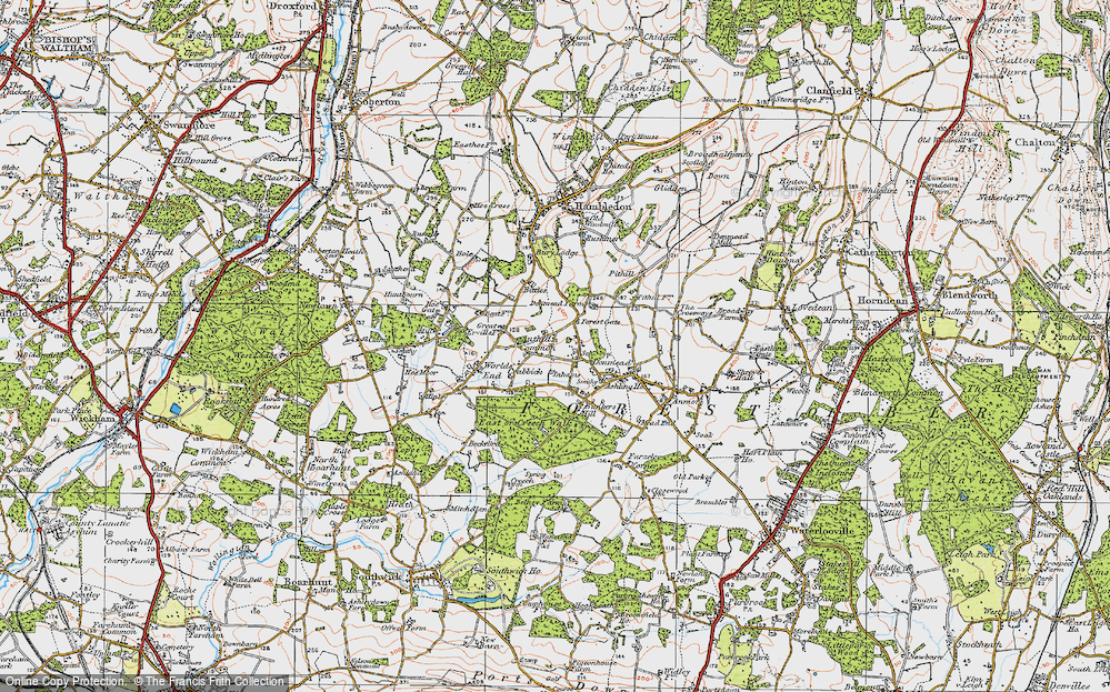 Old Map of Anthill Common, 1919 in 1919