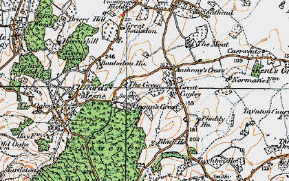 Old map of Anthony's Cross in 1919