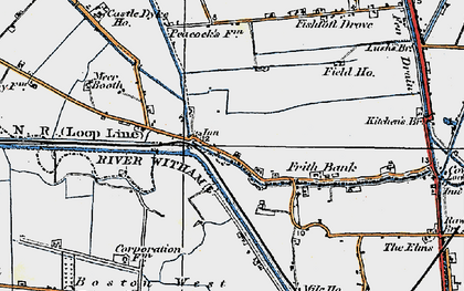 Old map of Anton's Gowt in 1922