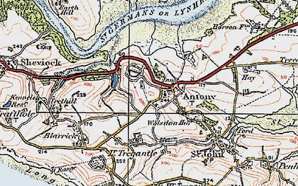 Old map of Antony in 1919